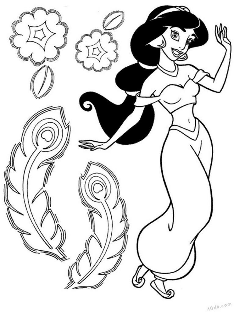 40dk.com  prenses yasemin  boyama sayfası (7)