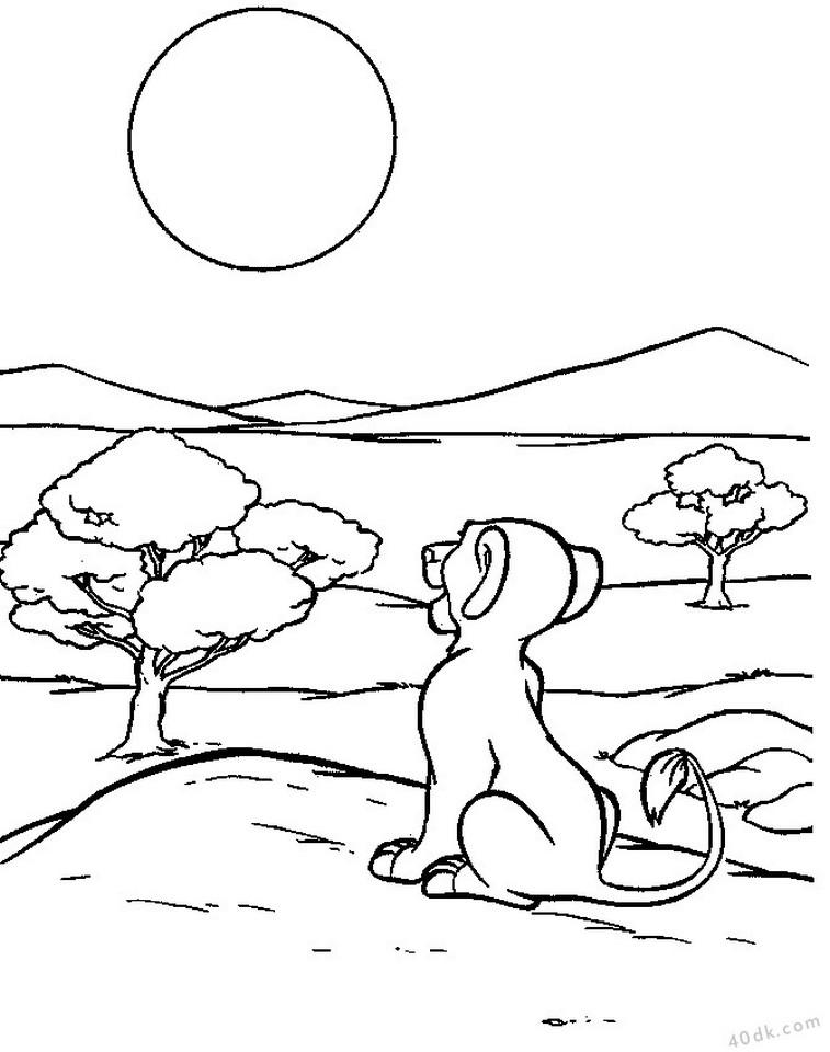 aslan kral boyama sayfası (21)