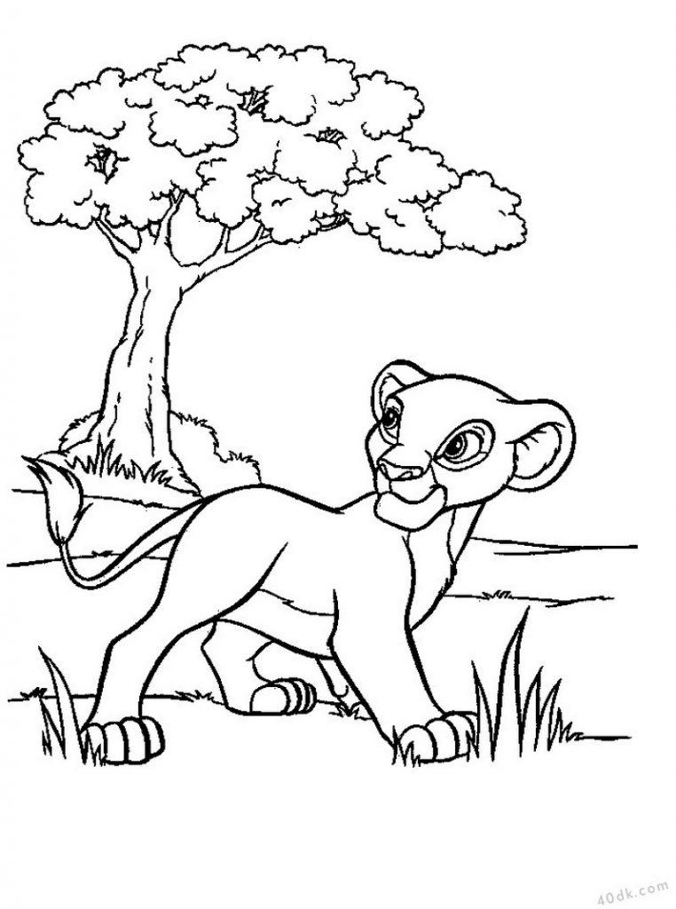 aslan kral boyama sayfası (3)