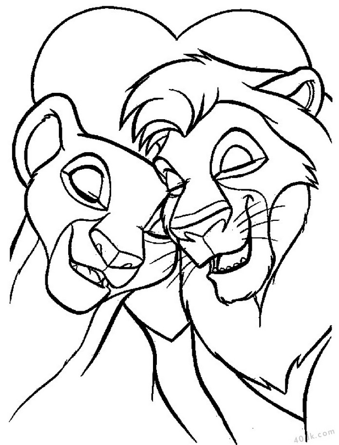 aslan kral boyama sayfası (5)