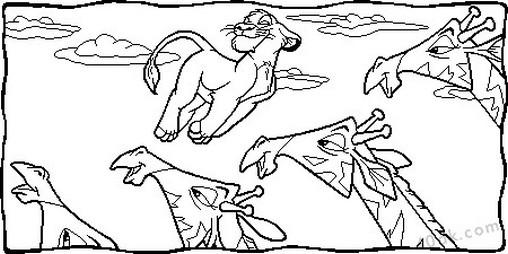 aslan kral boyama sayfası (80)
