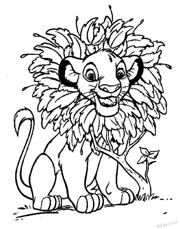 aslan kral boyama sayfası (85)