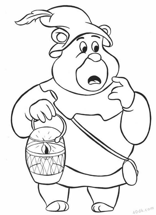 40dk.com  Gummi Bears boyama sayfası (2)