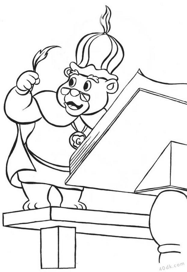 40dk.com  Gummi Bears boyama sayfası (3)