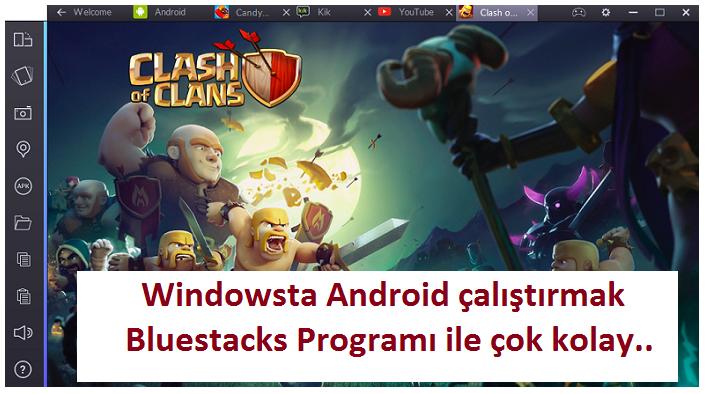 Windowsta Android Çalıştırmak