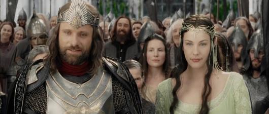 Aragorn Arwen evleniyor