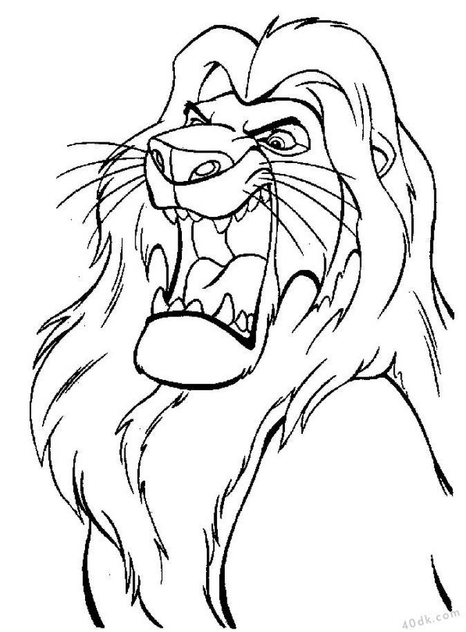 aslan kral boyama sayfası (12)