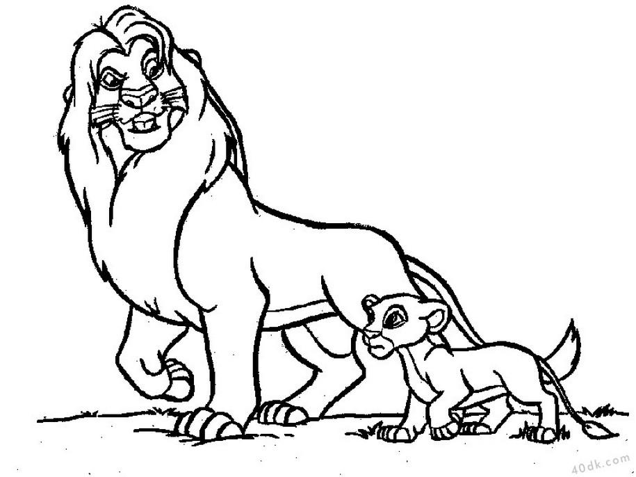 aslan kral boyama sayfası (24)