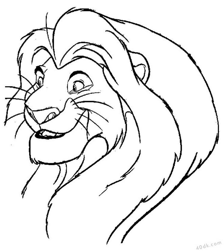 aslan kral boyama sayfası (25)