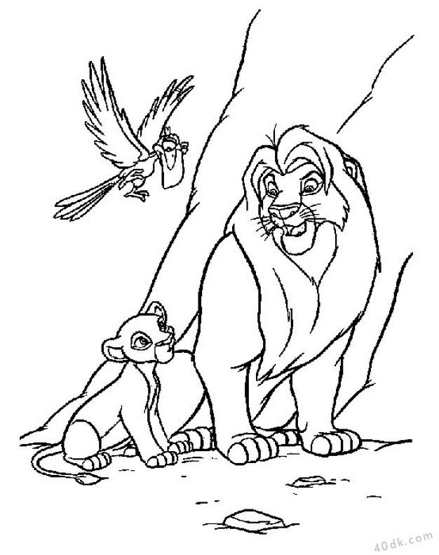 aslan kral boyama sayfası (29)