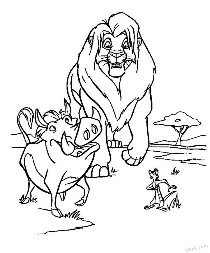 aslan kral boyama sayfası (6)