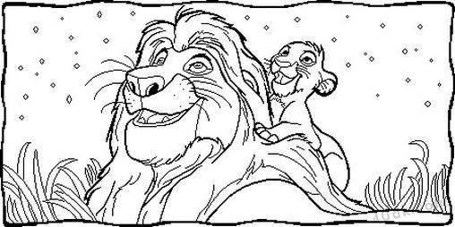 aslan kral boyama sayfası (76)