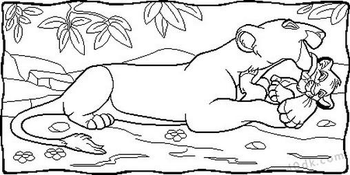aslan kral boyama sayfası (77)