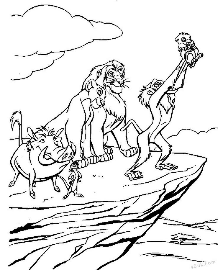 aslan kral boyama sayfası (86)
