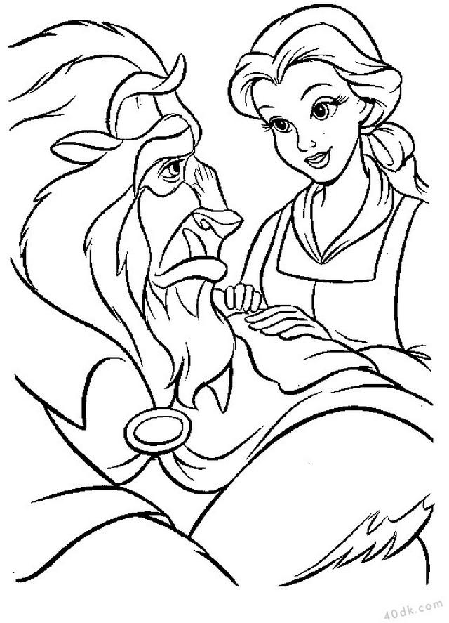 Güzel ve Çirkin boyama sayfası 40dk.com  (31)