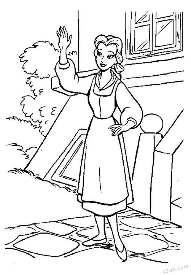 Güzel ve Çirkin boyama sayfası 40dk.com  (38)