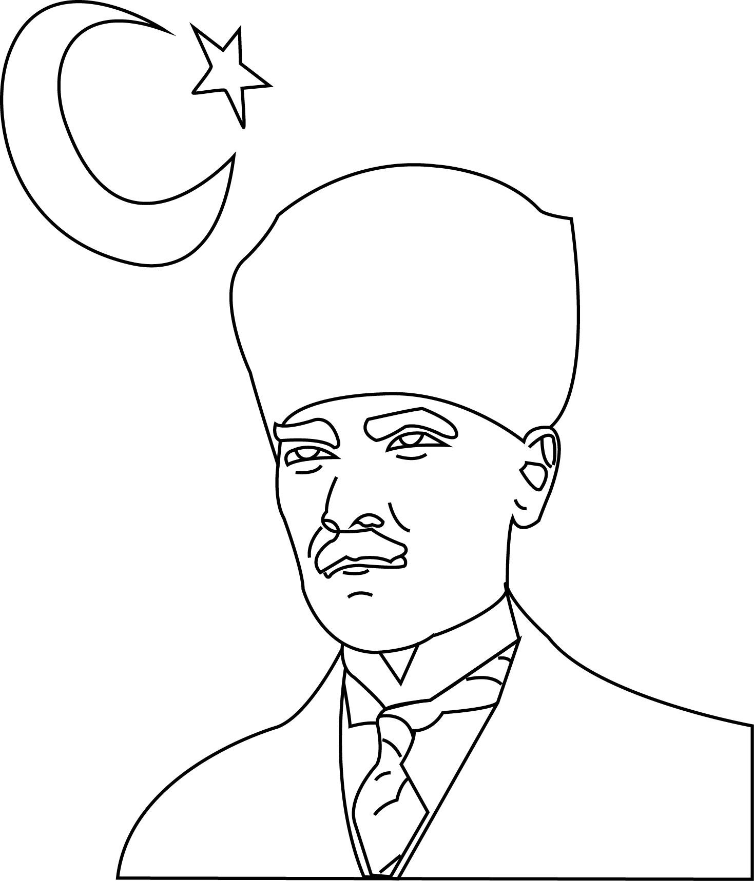Ataturk Boyama Sayfasi 26 Adet