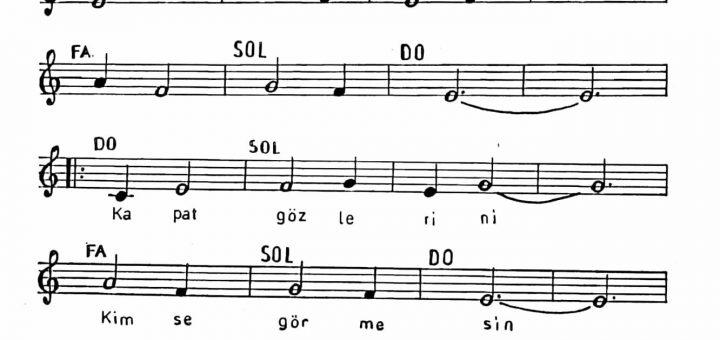 Bak yeşil yeşil şarkı notaları 2